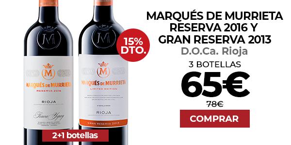 Marqués de Murrieta Reserva 2016 y Gran Reserva 2013