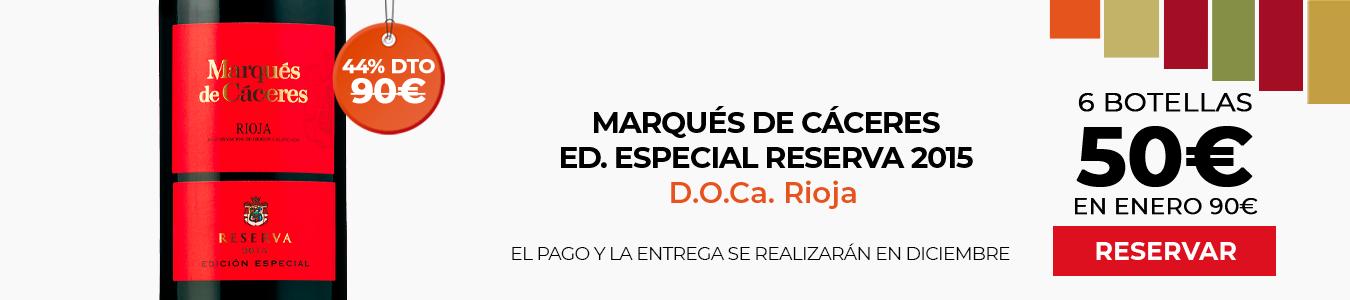 Marqués de Cáceres Ed Especial Reserva 2016