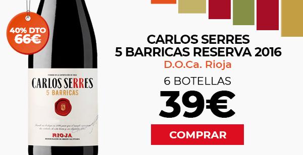 Carlos Serres 5 Barricas Reservas 2015