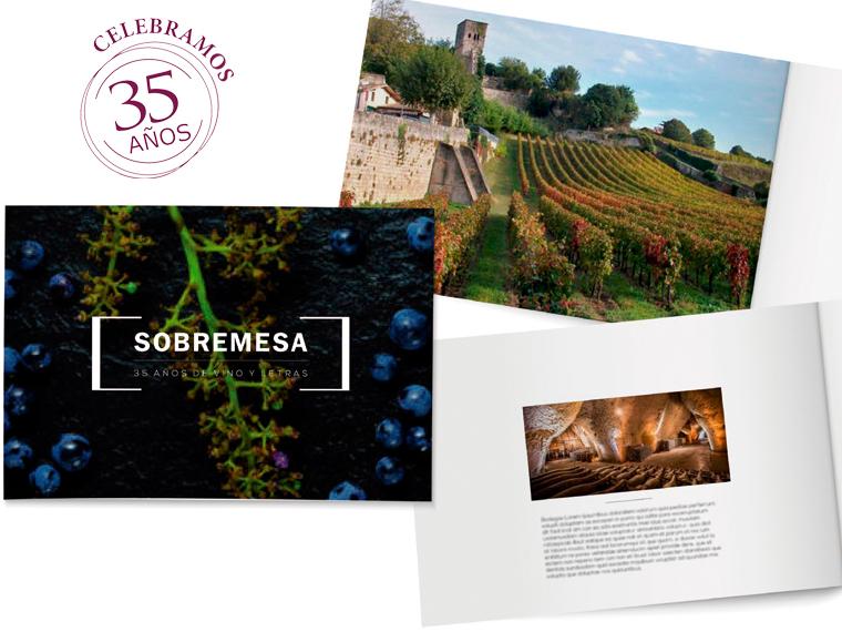 Exclusiva cena y cata de vinos por el 35 aniversario de Sobremesa